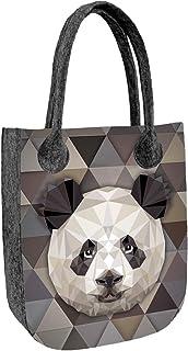 BERTONI CITY Filztasche Shopper Handtasche Tasche aus Filz Damentasche Tiermuster