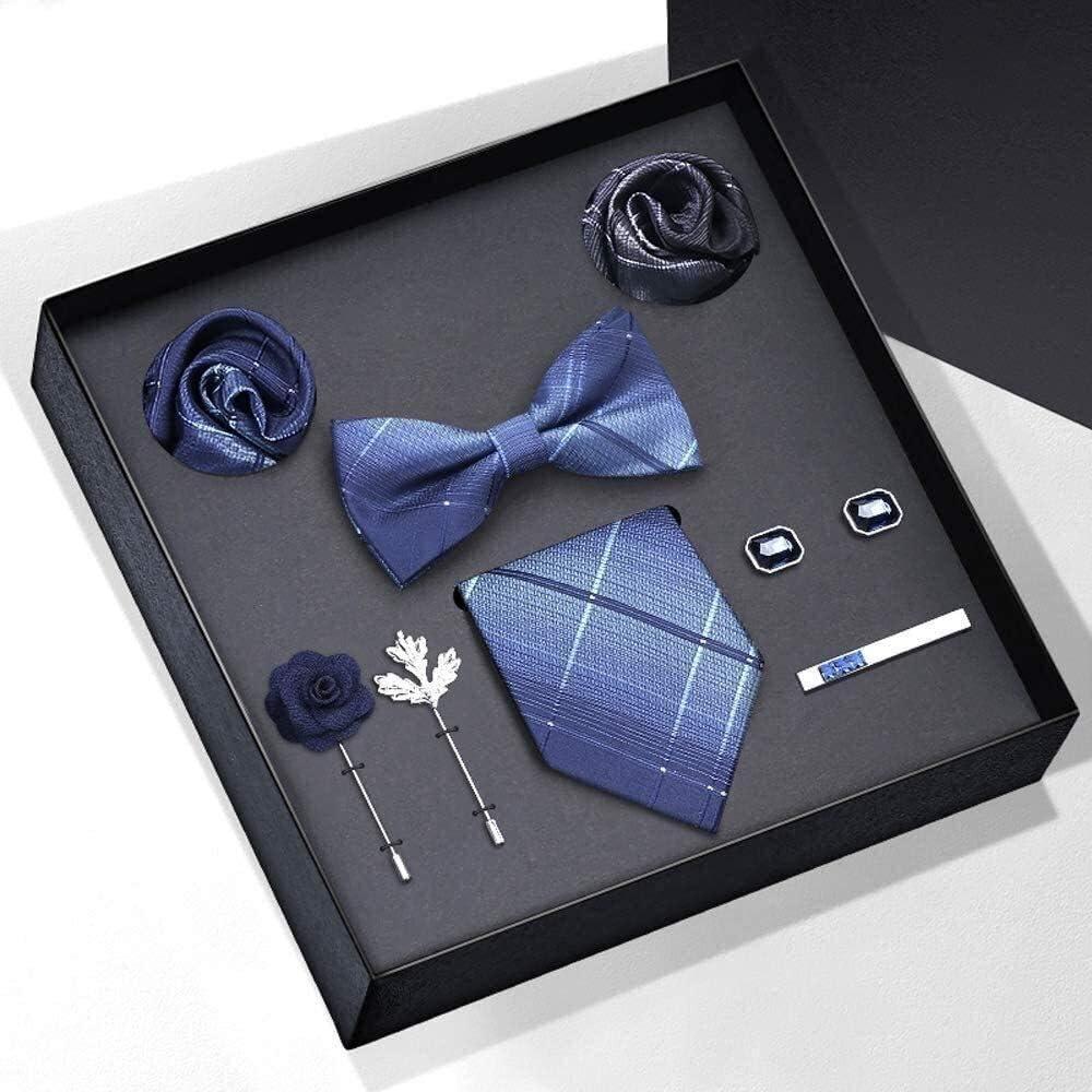 Men's Silk Tie and Pocket Square Woven Formal Tie Cufflink Set Solid Neckties Tie Wedding Tie for Hanky Cufflinks Microfiber Tie Set for Formal Wedding Business Party Set Gift Box Pack