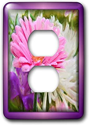 3drose Lsp 48105 6 Painted Spring Flowers 2 Plug Outlet Cover Switch And Outlet Plates Amazon Com