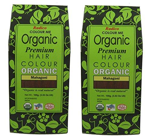 Radico Lot de 2 boîtes de coloration végétale Colour Me Organic, en acajou, 2 x 100 g