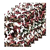 5pcs 11.8' x 9.5' (30cm x 24cm) Camouflage Thermo Heat Transfer Vinyl Iron-on Textile HTV Craft Film Garment Clothing for T-Shirt Decoration and Other DIY Craft Sewing Materials (Fashion Camouflage)