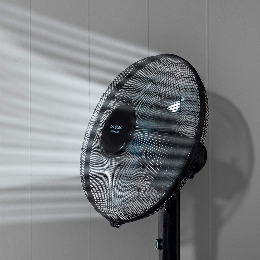 Cecotec Ventilador de Pie EnergySilence 520 Power Black. 5 Aspas ...