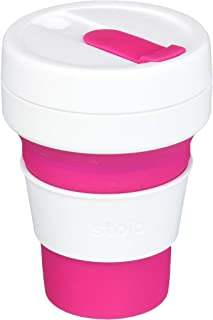 Stojo ST1-12OZ-COF-PNK-RET 869623000152 Collapsible Coffee Cup, Silicone, Pink, 5 x 9 x 9 cm, Pocket 12oz
