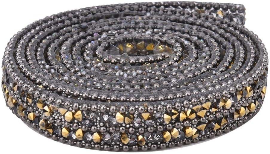 zapatos collar de cintur/ón rollo de malla de diamante de 10 mm para decoraci/ón de cadena de diamantes de imitaci/ón para ropa dorado Cinta de diamantes de imitaci/ón