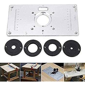 Router Table Insert Plate, inserti tavola per router in alluminio router Table Insert Plate per la lavorazione del legno banchi, 235 mm X 120 mm X 8 mm