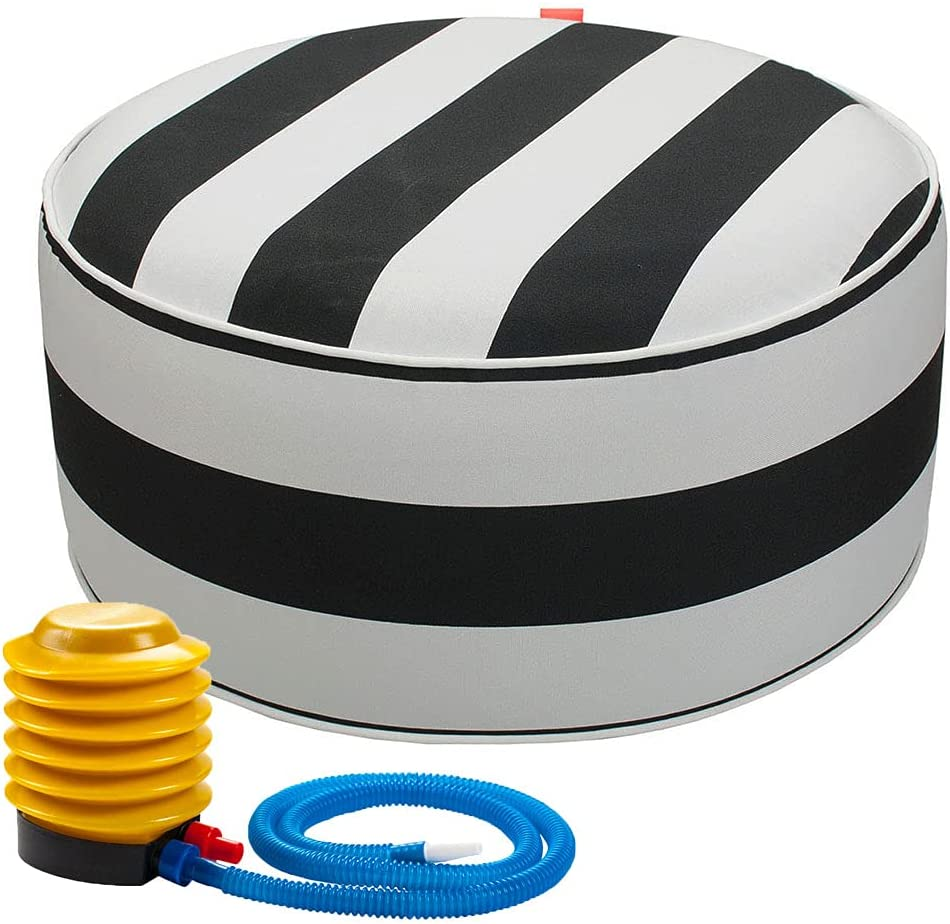 IN4 Care Inflatable Ottoman footrest air Stool Department store with Max 51% OFF Pum Portable