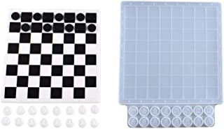 Chess Silicone Mold Resin Chess Board Silicone Mould,DIY Silicone Chess Casting Molds,Resin DIY Craft Stencils For Handmad...