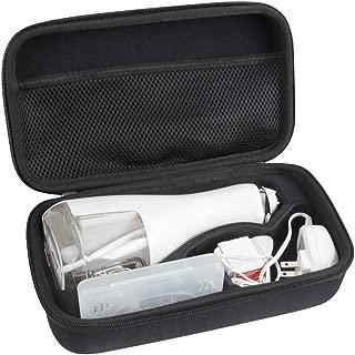 Hard Eva Travel Case for Waterpik WP-560UK / WP-562UK / WP-563UK / Cordless Advanced Water Flosser by Hermitshell (Black)