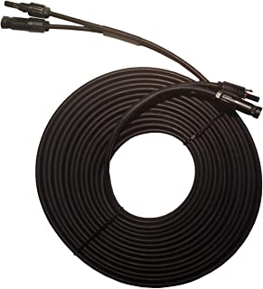 Valemo Home 30 Feet 2x10 AWG Twin Wire Solar Extension Cable with Female and Male Connectors, Solar Panel Cable Wire & Ada...