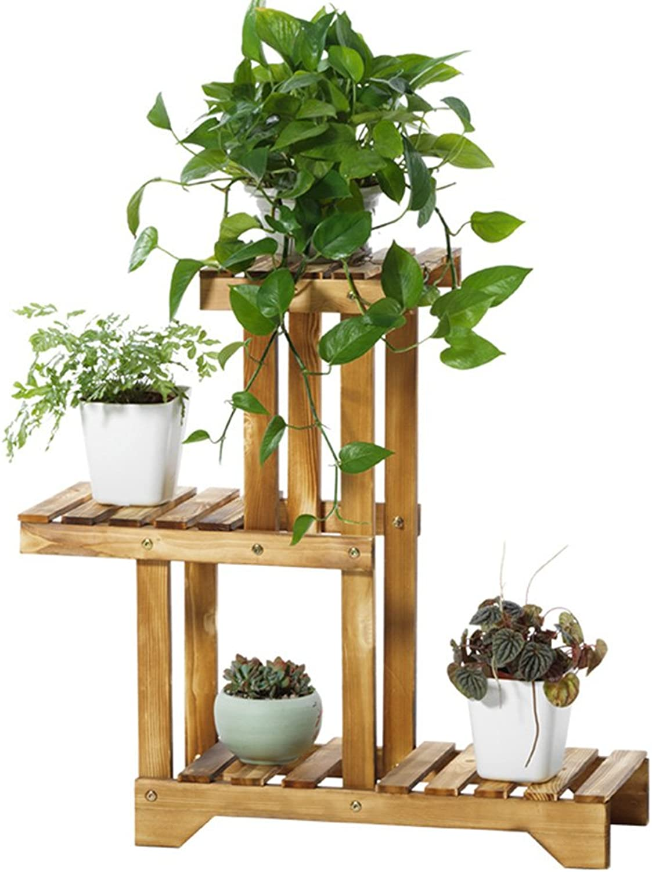 Plant Container Balcony Flower Shelf,Multi-Layer Living Room Flower Shelf,Indoor Flower Stand 55  66cm