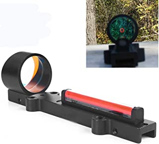Luger 1x28 Red Dot Sight Fiber Holographic Scope Ultralight for Rib Rail Rifle Hunting Shooting