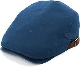 Comhats Mens Flat Duckbill Hat Newsboy Driving Cap PU Visor 6-Panel 57-59CM
