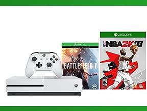 Xbox One S 500 GB Battlefield 1 Console + NBA 2K18 + WWE 2K16 Bundle ( 3 - Items )