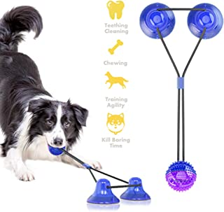 QPQEQTQ Upgrade Suction Cup Dog Toy Dog Chew Toys Interactive Dog Toys Dog Teeth Cleaning Toys Dog Toy Ball Dog Squeaky Toy Tug Toy for Dogs Non-Toxic Durable Dog Toys