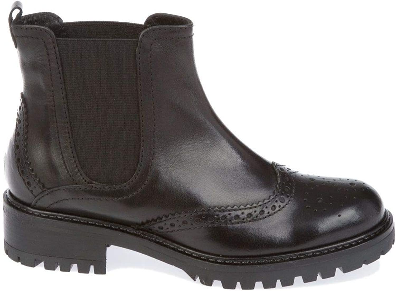 womenPIU' Women's 8905black Black Leather Ankle Boots