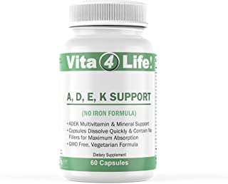 Vita4life, ADEK Support, No Iron - 60 Count