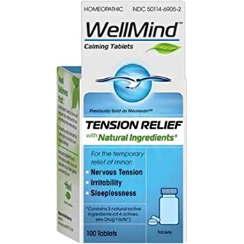 WellMind Tension Relief Tablets, Homeopathic, 100 ea (Pack of 3)