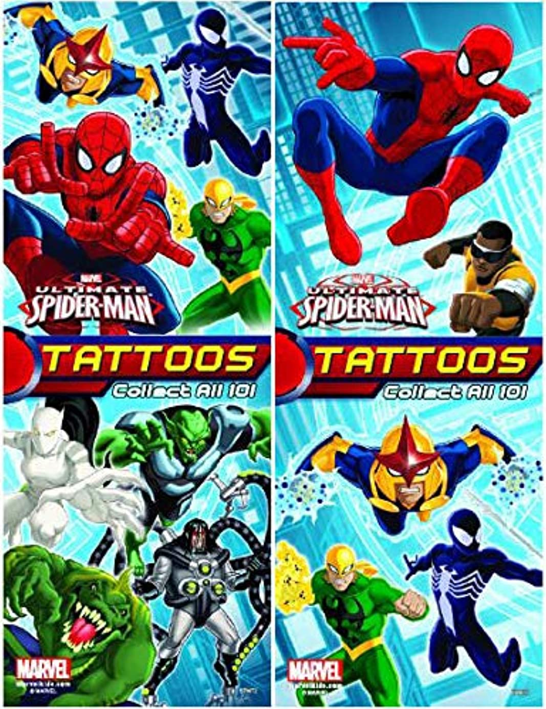Ultimate Spiderman Set of 10 Tattoos - Great for Party Favors! 2.5x3.5 Inches yad3729366