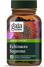 Gaia Herbs Echinacea Supreme, Vegan Liquid Capsules, 60 Count - Immune Support, Organic Whole Plant Echinacea