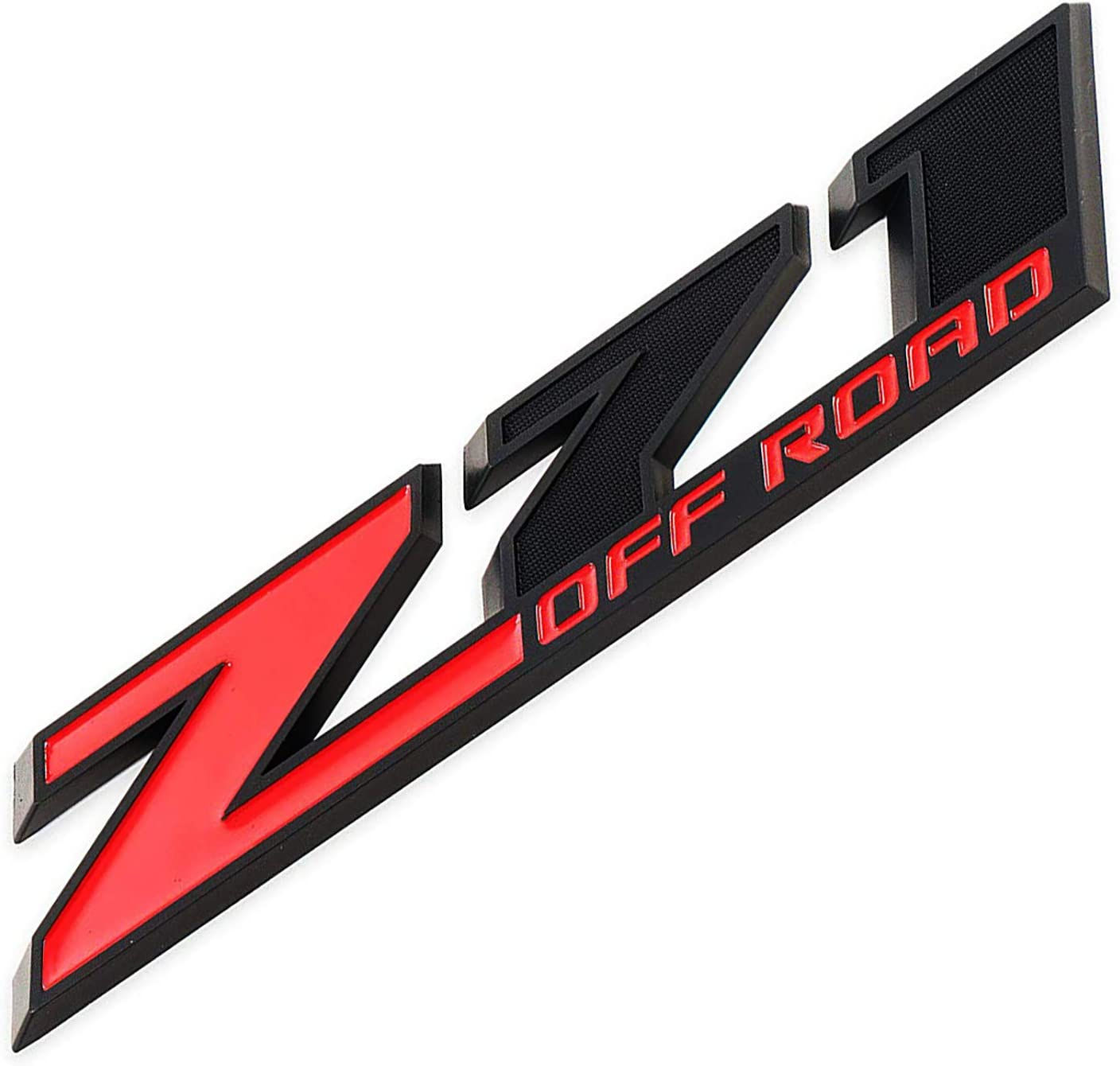 Z71 OFF ROAD Emblem 3D Badge Nameplate Compatible for Chevy Silverado Colorado Suburban Sierra Tahoe 1Pc Big Size 10.3 INCH Red Black