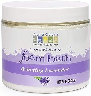 Aura Cacia Relaxing Lavender Aromatherapy Foam Bath | 14 oz. Jar
