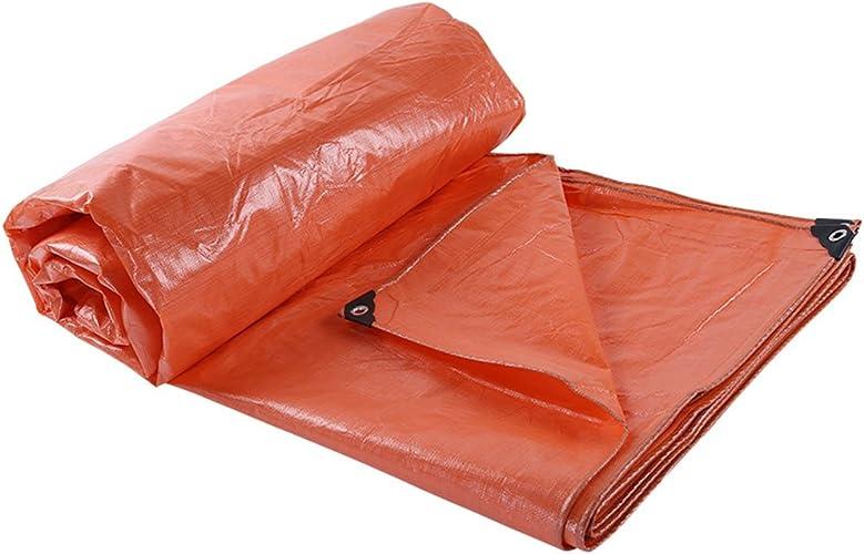LQQGXL Bache imperméable à l'eau de Prougeection de bache de Tente de bache de Prougeection Contre la Corrosion Anti-vieillissement, Orange Bache imperméable à l'eau