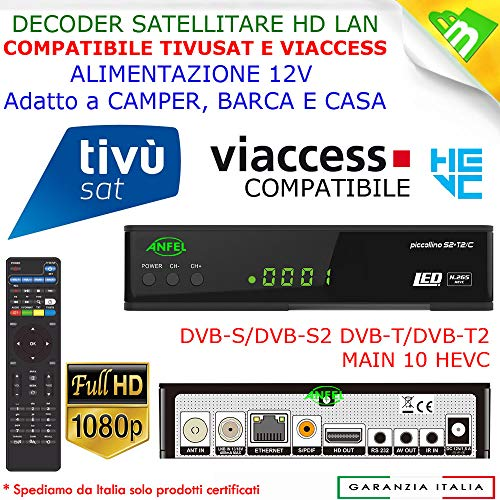 Decoder Satellitare HD compatibile con tessera Tivusat è con tessere Viaccess Digiquest Bware 540 545