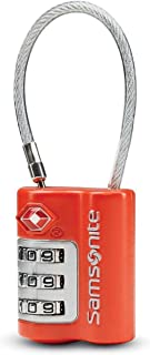 Samsonite Travel Sentry 3-dial Combination Cable Lock, Varsity Red, One Size