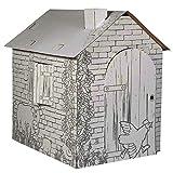 Legler 10015 - Spielhaus, Häuschen, aus Bastelkarton