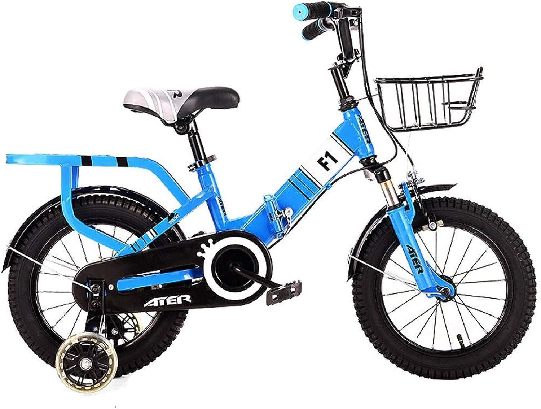 calidad oficial Daxiong Bicicleta para Niños Niños Niños Bicicleta Plegable para Niños Bicicleta para Niños Bicicleta de Viaje al Aire Libre (Color  Amarillo, Rojo, Azul, tamaño  16 Pulgadas)  compras en linea