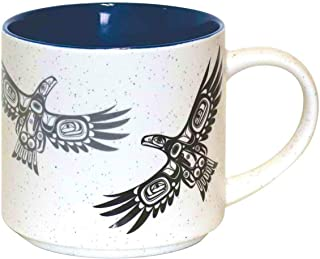 "Native Northwest""Soaring Eagle"" Coffee Mug 16 oz - First Nations Ceramic Cup by Corey Bulpitt"