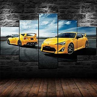 cuadros decoracion salon modernos 5 piezas lienzo grandes xxl murales pared hogar pasillo Decor Arte Pared Abstracto Enmarcado Dodge Roll 11000 hp Charger SRT Car HD Impresión Foto Innovador Regalo