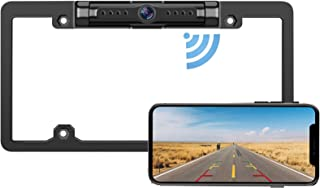 $129 » License Plate Wireless Backup Camera - IP69 Waterproof Night Vision License Plate Frame Camera for Cars, Trucks, Vans, Pic...