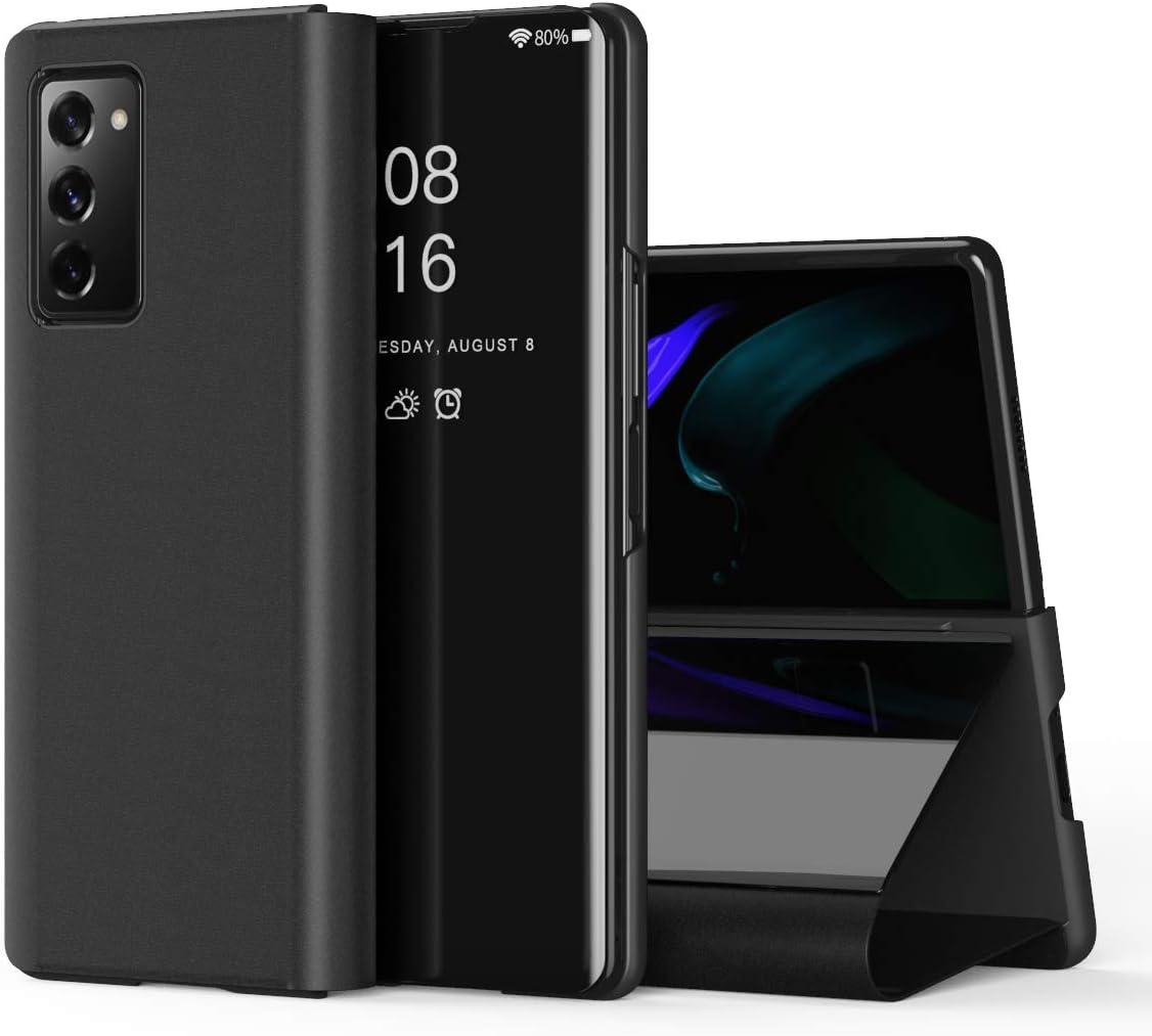 AKAFFICE Z Fold 2 Case, Ultra Slim and Kickstand Flip Phone Case for Galaxy Z Fold 2 2020 Case(Black)