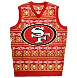San Francisco 49ers Aztec Print Ugly Sweater Vest Large