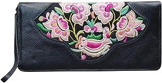 Bolso de Noche para Mujer tipo Clutch de Cuero Vintage Bordado a Mano Bolso Elegante para Vestir y de Fiesta #101