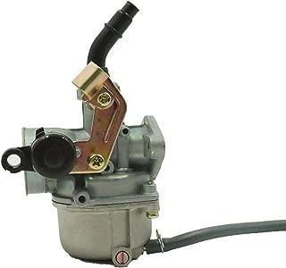 Glixal ATMTADB102 PZ19 Cable Choke Carburetor 50cc 70cc 90cc 110cc 125cc ATV Quad Dirt Bike 19mm Carb TaoTao Buyang Coolsport Lifan Tank SUNL Baja (Cable Choke Lever)