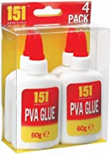 151 Products 4 X 151 Adhesives PVA Glue Non Toxic. Paper Card Fabric Art + Craft