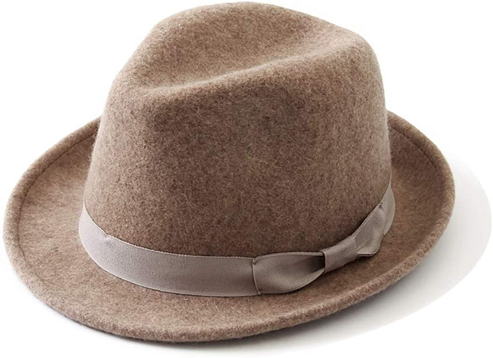 SANILE Mix Color Free Size Wool Stain-Resistant Crushable Unisex Panama Classic Manhattan Structured Fedoras