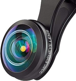 MIAO LAB HD Super Fisheye Lens Campo de visión de 238 ° Clip en el teléfono celular Kit de lentes de cámara para iPhone Samsung Galaxy y la mayoría de teléfonos inteligentes