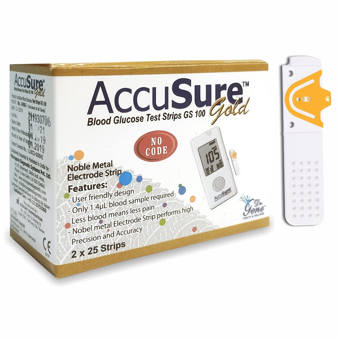 AccuSure Gold Blood Glucose Monitoring Device