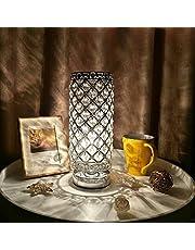Tomshine Kristallen tafellamp, tafellamp met 110 K5-kristal voor woonkamer, slaapkamer, eetkamer (zonder lamp)