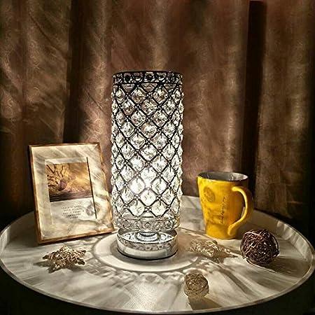 Lampada da tavolo decorativa, Stile classico, Intarsio di cristallo, Apparecchi di illuminazione di fascia alta e d'atmosfera, Adatto per camera da letto, soggiorno, cucina, sala da pranzo