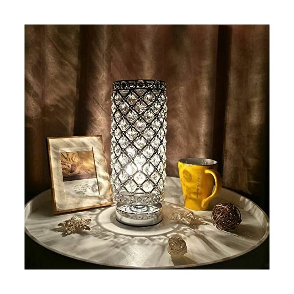 Lampe-CristalTomshine-abat-jour-Lampe-de-chevet-Cristal-de-mode-cratif-lampe-de-table-argent-pour-la-commode-de-bibliothque-salon-chambre-htel-pas-dampoule