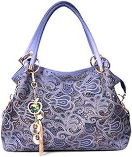 ETH Ms. Modern Minimalistic Fashion Hand Modern Minimalist Hollow Carved Diagonal Shoulder Large Capacity Bags (35 * 10 * 29cm) Hand Bag (Color : Purple)
