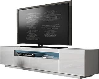 cheap white high gloss tv unit