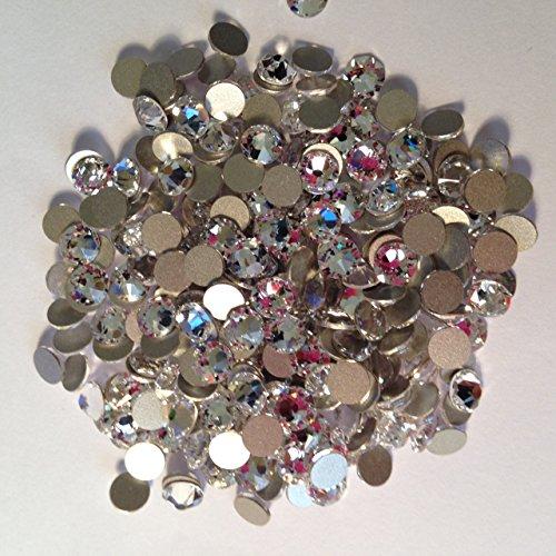 Pack of 70 Swarovski Flatback Glue Fix Rhinestone Gems (Free Swarovski Pendant on orders over £10) (SS10 (2.8mm), Crystal Clear)