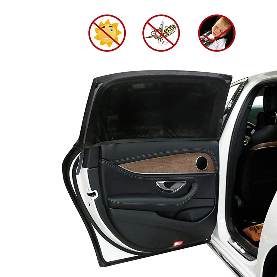 Carrep Side Car Window Shade Sunshades 2 Package Protects Baby from Sun, Harmful UV Rays,Fits Most Small Cars, Trucks and SUVs (L 44