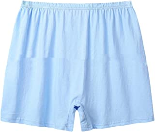 Howely Men Cozy Basic Cotton Breathable Plus Size Soft Solid Color Boxer Brief