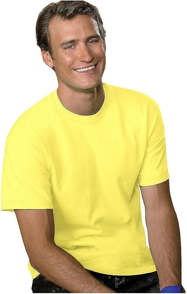 Hanes Men's TAGLESS ComfortSoft Crewneck T-Shirt, Orange, X-Large